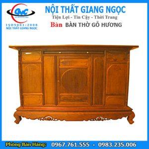Bán nội thất bàn thờ gỗ hương GNC